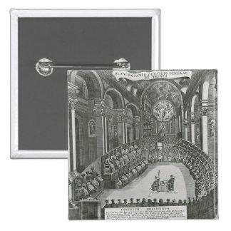 El Sacrosanto Concilio Allmän de Trento Standard Kanpp Fyrkantig 5.1 Cm
