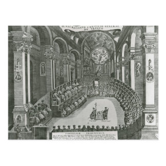 El Sacrosanto Concilio Allmän de Trento Vykort