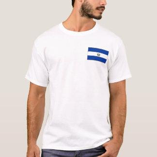 El Salvador flagga och kartaT-tröja Tee