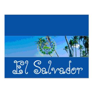 El Salvador flagga Vykort
