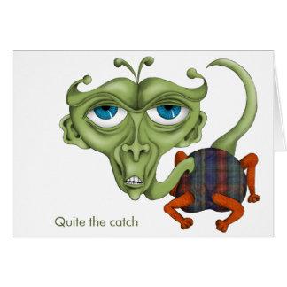 Elakt troll ger humoristisk komplimang hälsningskort
