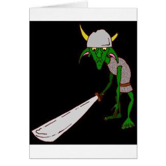 Elakt troll hälsningskort