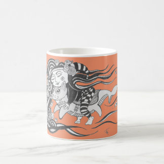 Elakt trollhundfisk, utmaning att drömma, orange kaffemugg