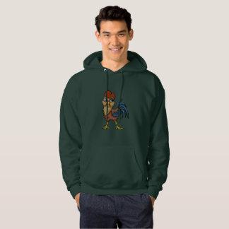Elastisk tupp! sweatshirt med luva