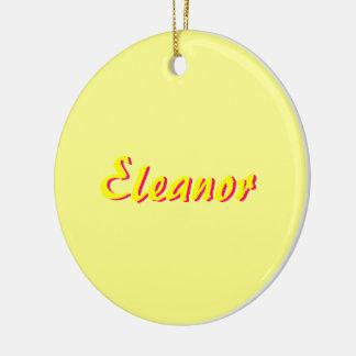 Eleanor prydnad rund julgransprydnad i keramik
