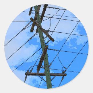 ELECTRICIY-POL LANTLIGA QUEENSLAND AUSTRALIEN RUNT KLISTERMÄRKE