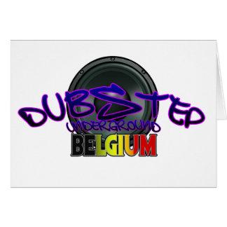 Electro för Reggae för Belgien DUBSTEP dubsmuts Hälsningskort