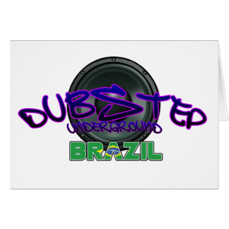 Electro för reggae för smuts för dub för Brasilien Hälsnings Kort