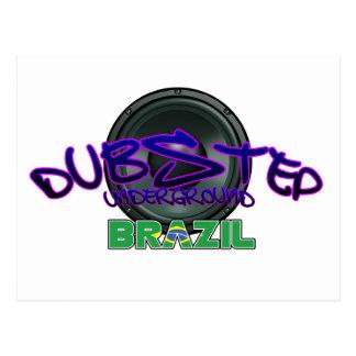 Electro för reggae för smuts för dub för Brasilien Vykort