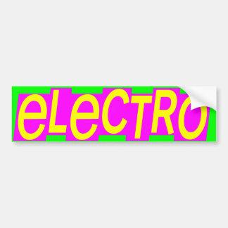 Electro för vintage för Corey tiger80-tal Bildekal