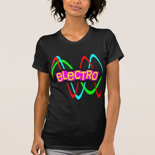 Electro för vintage för Corey tiger80-tal T-shirt