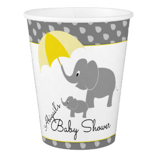 Elefant & baby, paraplybaby shower