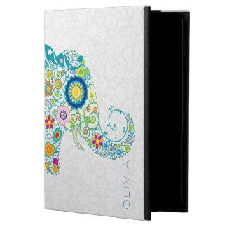 Elefant för blom- damaster för vit färgrik blom- iPad air skal