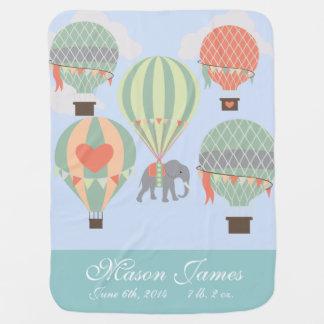 Elefant för luftballong för personligbabyfilt bebisfilt