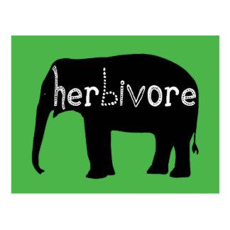 Elefant - herbivor vykort