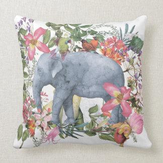 Elefant i blommadjungel kudde
