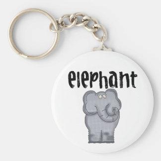 Elefant Keychain Rund Nyckelring