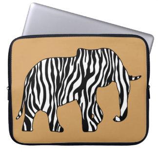 Elefant med zebra ränder + dina idéer laptop datorfodral