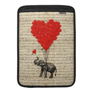Elefant och hjärtformade ballonger MacBook air sleeve