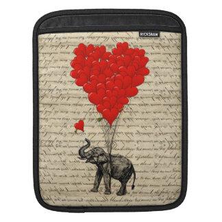 Elefant och hjärtformade ballonger sleeve för iPads