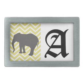 Elefant på sparresicksack - gult och vit