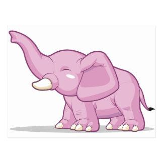 Elefant som lyfter dess stam vykort