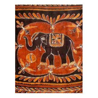 ElefantBatik Vykort