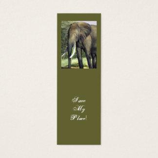 Elefantbokmärkespara mitt ställe! litet visitkort