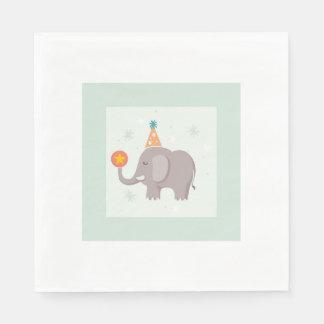 Elefantcirkusfödelsedagsfest Servett