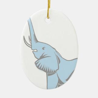 Elefanten drömm hänget julgransprydnad keramik