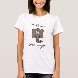 Elefanter glömmer aldrig t-shirt