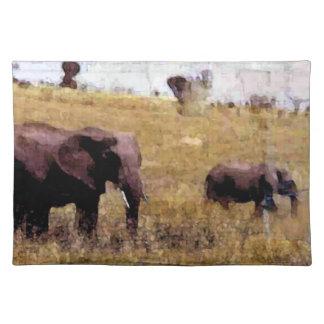 Elefanter i vilden bordstablett