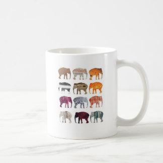 Elefanter Kaffe Muggar