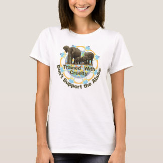 Elefanter utbildas med grymhet t-shirts