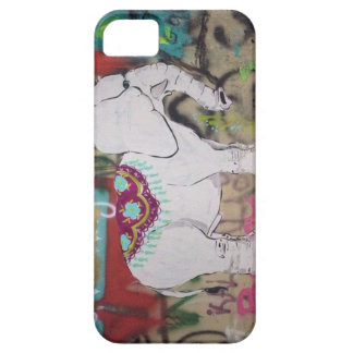 Elefantgrafittiiphone case iPhone 5 skal
