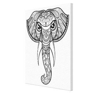 Elefanthuvudklotter 11 canvastryck