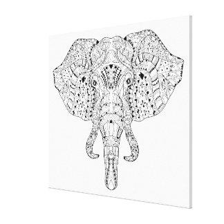 Elefanthuvudklottret skissar 6 canvastryck