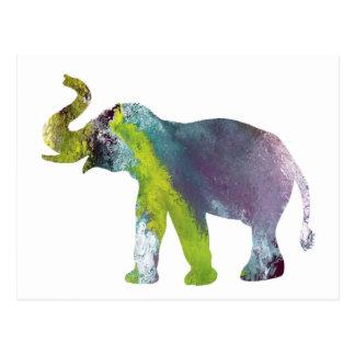 Elefantkonst Vykort