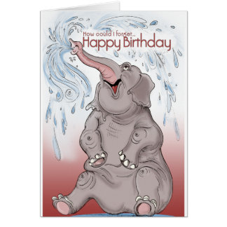 Elefantkort Hälsningskort