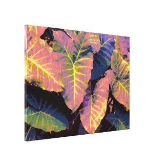 Elefantlöv i tropiska pastell canvastryck