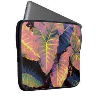 Elefantlöv i tropiska pastell laptop sleeve