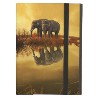 Elefantsolnedgång iPad Air Skydd