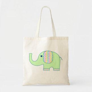 Elefanttotot hänger lös/Eco den vänliga gåvasjalen Tygkassar