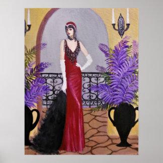 Elegans i rött, affisch