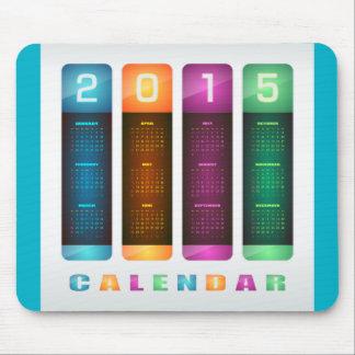 Elegant 2015 färgrika kalender mus matta