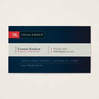 Elegant advokatvisitkort visitkort