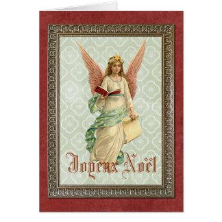 Elegant ängel för Victorianvintagejul Hälsningskort