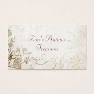 Elegant antik guld- blomsterhandel visitkort