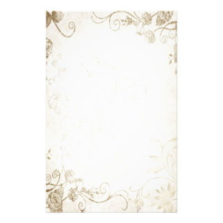 Elegant antik guld- vintage bröllop brevpapper design