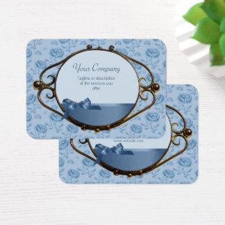Elegant antikvitet CC0337 för romantiska blom- Visitkort